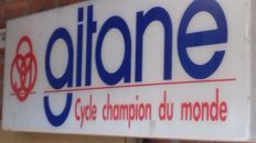 Light advertising for cycle brand Gitane from around 1967