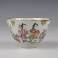 A Daoguang brand and period Famille Rose Porcelain Bowl - China 19th century