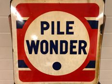 Emaille bord  Pile Wonder