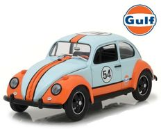 "Greenlight - Scale 1/18 - Volkswagen Beetle Gulf Oil Racer #54 ""Gulf"""
