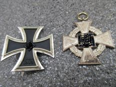Iron Cross 1st class and 25 year anniversary Medal
