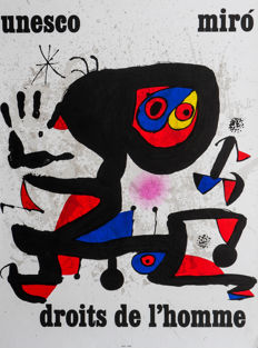 Joan Miro -  (1893-1983) - Unesco human rights
