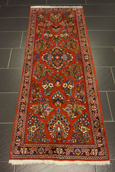 Fine hand-knotted Art Nouveau Persian palace carpet, Sarough, 75 × 205 cm, made in Iran