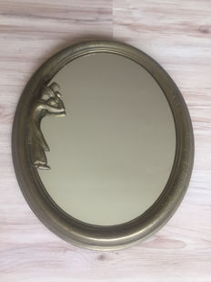 Brass Brocante mirror - ca. 1950
