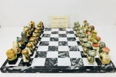 Chess carved in marble by the author.