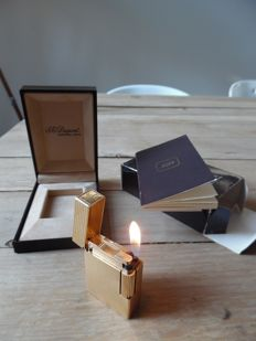 S.T. Dupont lighter gold plated - France - 1989