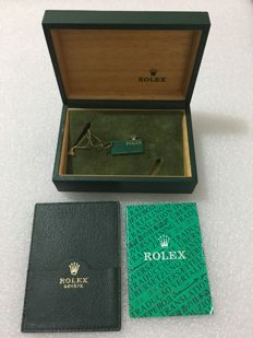 Rolex - 80's/90's original inclined plate wooden box -