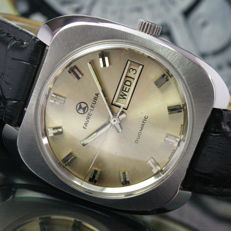 Favre Leuba Duomatic Automatic Day Date Steel Mens Wrist Watch