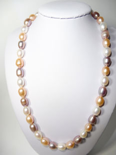 14kt Gold Freshwater Pearl Necklace 9.5-10 mm*** Length: 44 cm***