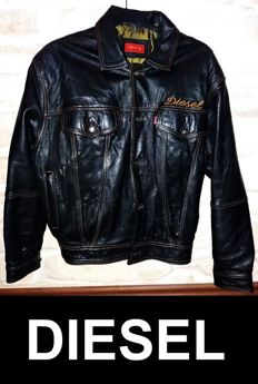 DIESEL leather jacket - Trucker III - 2000