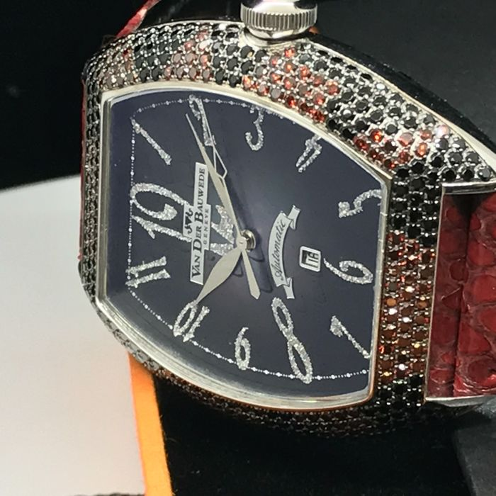 Van Der Bauwede - Snake collection with mixed gems case - 13148 Automatic  Movement with date - Unisex - 2011-present