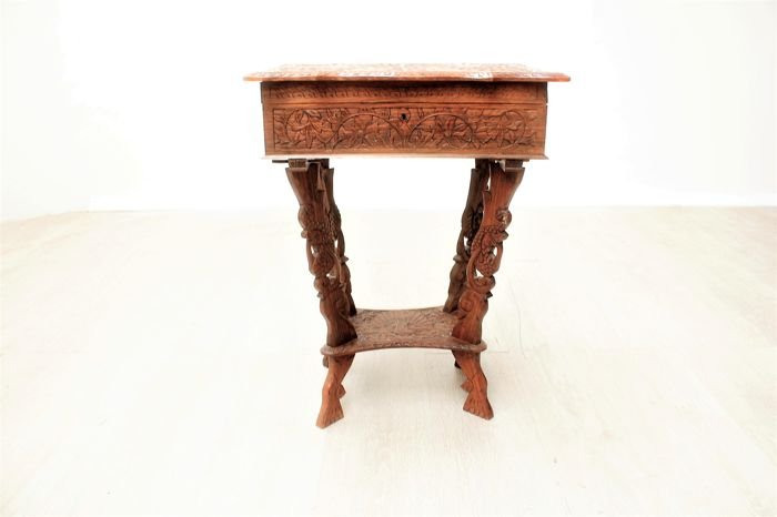 Sewing table with elaborate carving indonesia late for Nfpa 99 table 5 1 11