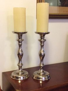 Two large candlesticks - Italy, 21st century
