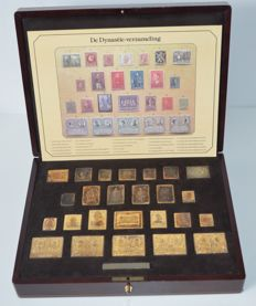 Belgium 1980 - Silver stamps gold-plated 'The Dynasty-collection' Belgium