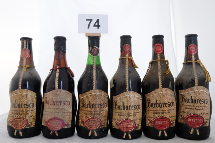 L. Bertolo, Barbaresco Riserva Speciale: 1961 & 1967 & 1968 & 1974 & 1975 & 1979 - 6 bottles in total