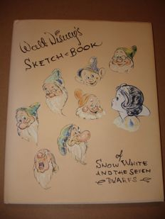 Walt Disney's Sketch-Book of Snow White and the Seven Dwarfs - signed by Adriana Caselotti - voice of Snow White - hc - 1st print (1993)