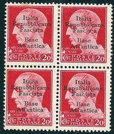 "Italian Social Republic - 1943 -Local ""Base Atlantica"" Emissions, 1943"