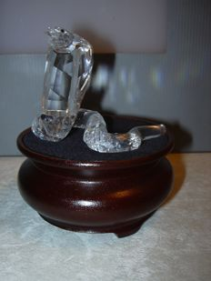 Swarovski - Silver Crystal cobra with dealers display