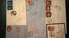 GB 1850-70s covers sent to French destination (6)