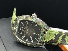 Van Der Bauwede - Snake collection with mixed gems case - 13145 Autonatic Movement with date - Unisex - 2011 - actualidad