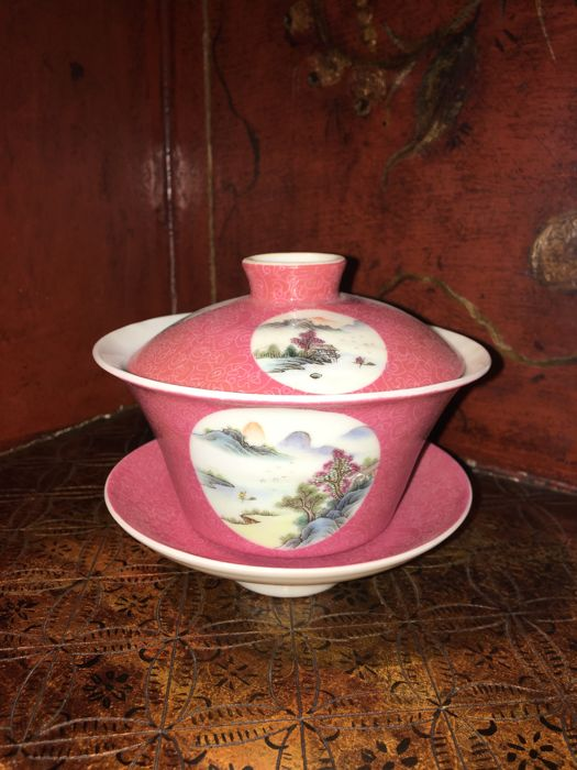 Vintage Chinese soup porcelain cup - China - late 20th century
