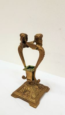 Special bronze angel candle-holder