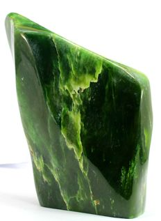 Fantastic Lush green Nephrite Jade Polished tumble - 160 x 108 x 60mm - 2077gm