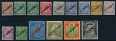 Malta 1921 - Free marks, King George V and Saint Paul with overprint postage, Michel 64/80