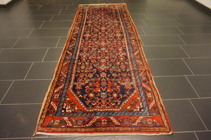 Unique Persian carpet Malayer runner finest wool natural dyes Made in Iran 110 x 300 cm