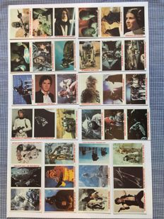 Lucas Film Ltd - Star Wars, a collection of 36 trading cards, won at Burger Kings/Coca-Cola in 1981