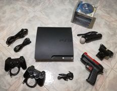 PlayStation 3 ultraslim 150 GB incl 2 controllers, camera, playstation move, 11 games  (GTA, Fifa, PES, Call of Duty, Burnout ...) and more