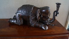 Bronze elephant sculpture - Mid 20th century - large model