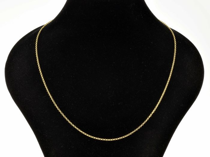 "18k Gold Necklace. Chain ""Rolo"" - 50 cm"