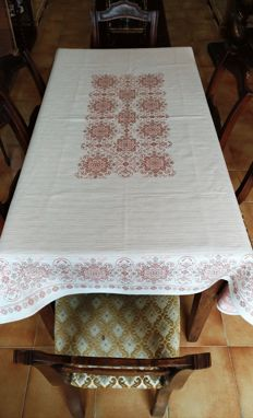 Embroidered Tyrolean  tablecloth