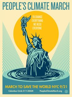Shepard Fairey (OBEY) - People's Climate March