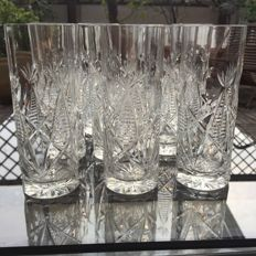 Lot of 10 glasses in finely worked crystal