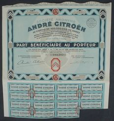 France - France Andre Citroen - share 1927