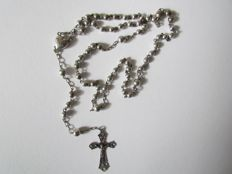 Silver rosary with openwork crucifix - the Netherlands - 1924