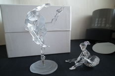 Swarovski - ballerina, standing and seated
