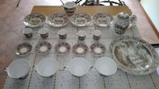 Johnson Brother, Historic America coffee and tea set with decals