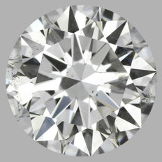 Round Brilliant 0.90 ct - G SI2 -GIA  -Original Image 10X #BJ1813