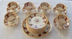Royal Albert - series Lady Hamilton pastry set with 6 coffee cups and saucers