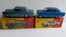 Dinky Toys - Scale 1/43 - Lot of Vauxhall No.136 and Ford Cortina No.139