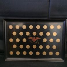 Presidential Coins - United States - Couroc Wooden Tray