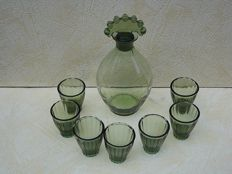 Copier (Leerdam) Neerlandia - Decanter and glasses