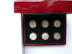 Luxembourg - 6 x 2 euro, 2 euro special coin set 2013 -  2015 proof