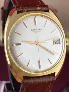 Longines men's wristwatch in 18 kt gold, 1950s