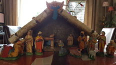 Nativity scene with all figures