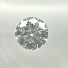 0.54 ct Round cut diamond D VVS2