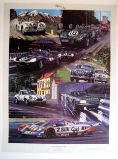 """Jaguar - The Competition Years"" - Collage from Jaguar cars"
